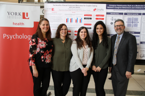"""The two poster winners for the Richard Goranson Memorial Psychology Honours Thesis Poster Award go to: 1st place: Marette Abdelmaseh, supervised by Rebecca Pillai-Riddell, for a study entitled """"Caregiver Relationship Styles as a Moderator for the Association Between Caregiver Behaviours and Children's Pain-Related Distress"""" 2nd place: Amanda Bockaj, supervised by Amy Muise, for a study entitled """"The Benefits of Sexual Communal Motivation for Couples Coping with Low Desire"""""""
